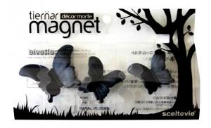 Магниты Tiernar Бабочки 3 шт. черные