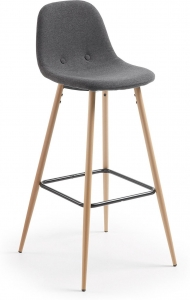 Барный стул Nilson 47X48X101 CM серый