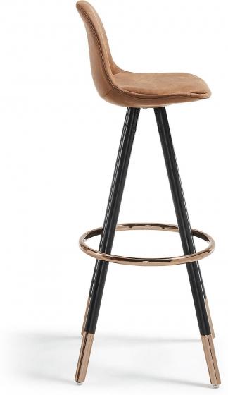 Барный стул Stag 40X40X97 CM коричневый на черных ножках  2