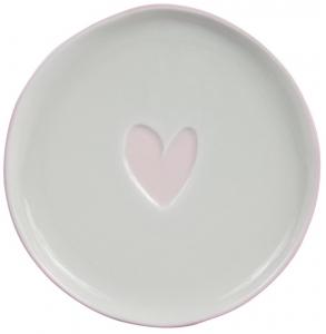 Десертная тарелка White Нeart Rose Ø16 CM