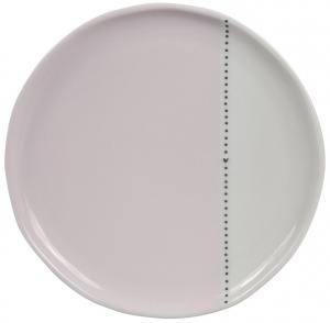 Десертная тарелка White Dots Нeart Black Ø19 CM