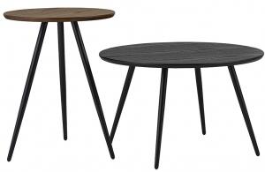 Набор кофейных столиков Buzzola 40X40X52 / 60X60X37 CM