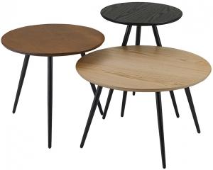 Набор кофейных столиков Sodano 40X40X52 / 48X48X44 / 60X60X37 CM