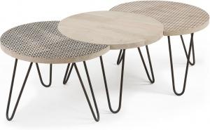 Набор столиков из мангового дерева Hos 160X47X40 CM