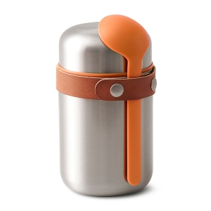 Термос  для горячего food flask оранжевый