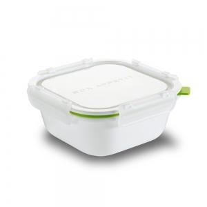 Ланч-бокс square белый/зеленый большой