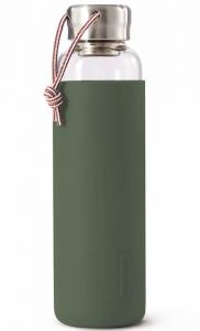 Бутылка для воды стеклянная 600 ml оливковая