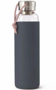 Бутылка для воды стеклянная 600 ml серого цвета