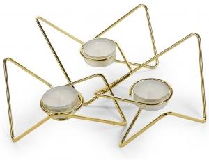 Набор из 3-х подсвечников loop maison золото