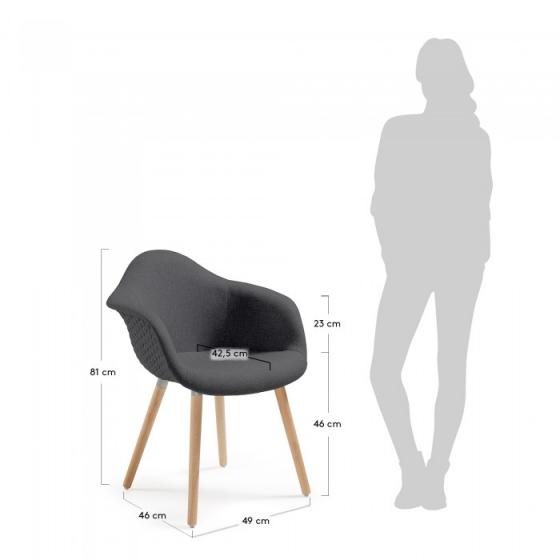 Кресло Kenna 62X61X81 CM чёрное 5