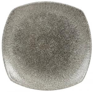 Квадратная тарелка Raku Quartz Black 22X22 CM