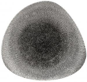 Тарелка треугольная Raku Quartz Black 28X20 CM