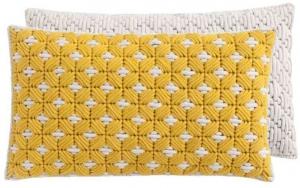 Декоративная подушка Silai Cushion 60X35 CM желто-белая