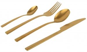 Набор из 24 столовых предметов Vintage Gold Edelstahl