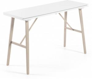 Раздвижной консольный столик Aryon 130X45-90X76 CM белый