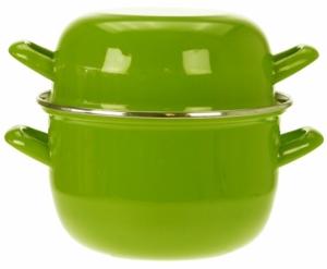 Кастрюля для мидий Mussel 2.8 L зелёная