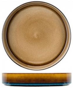 Тарелка глубокая Quintana 23X23X4 CM amber