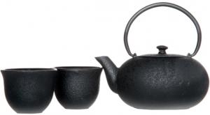Чугунный чайник с чашками Fuku 550 ml