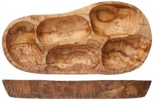 Менажница из оливкового дерева Organic Line 38X30 CM