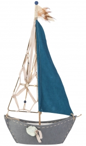 Декоративный элемент Zeilboot Blauw 37X72 CM