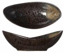 Блюдо овальное для оливок и маслин Black Yoru 10X5X3 CM