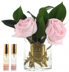 Букет из камелий и роз ароматизированный Pink camelia roses 17X17X21 CM