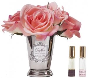 Букет роз ароматизированный Rose Bouquet 17X17X21 CM  White peach