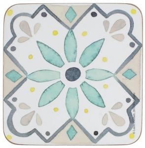 Набор из 6 подставок под стаканы Green Tile 10X10 CM