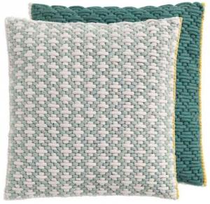 Декоративная подушка Cushion 50X50 CM серо-зелёная