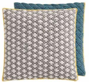 Декоративная подушка Silai Cushion 50X50 CM серо-голубая
