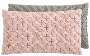 Декоративная подушка Silai Cushion 60X35 CM розово-серая