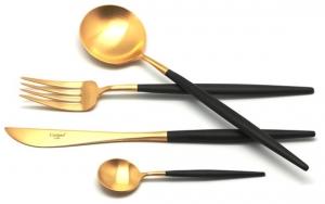 Набор столовых приборов GOA Gold Mat 130 предметов на 12 персон
