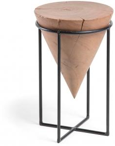 Приставной столик из стали и акации Jayd 31X31X50 CM