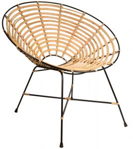 Кресло из стали и ротанга Kubu 79X72X76 CM