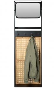 Вешалка настенная с зеркалом Langres 53X15X165 CM
