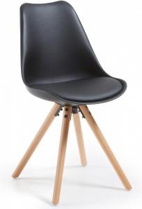 Стильный стул Lars 48X56X82 CM чёрный