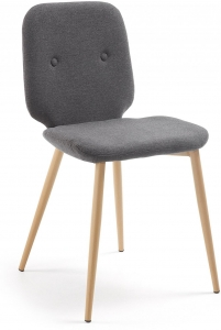 Стул с мягким сиденьем Stem 48X56X84 CM серый