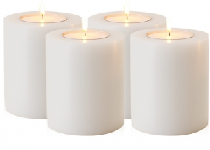 Artificial Candle 8 x H. 9 cm set of 4