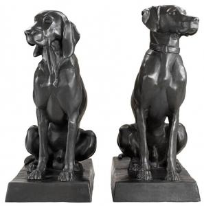 Скульптура Dogs Pointer & Hound 32X60X73 / 32X60X73 CM