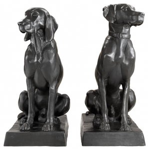 Скульптура Dogs Pointer & Hound 32X60X73 / 32X60X73 CM