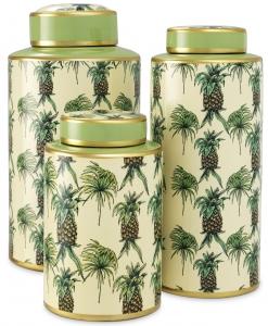 Набор из трёх декоративных ваз Pineapple 21X21X40 / 16X16X37 / 16X16X26 CM