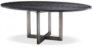 Обеденный стол с дубовым шпоном Melchior Oval 200X120X76 CM угольного цвета
