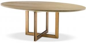 Обеденный стол с белёным дубовым шпоном Melchior Oval 200X120X76 CM