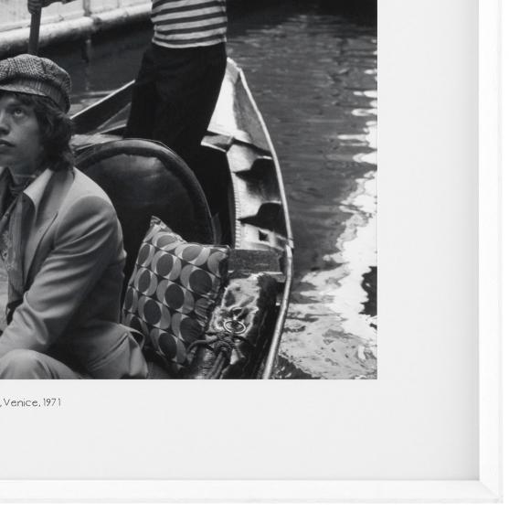 Постер Mick Jagger Venice 1971 103X83 CM 2