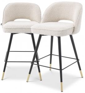 Комплект из двух полубарных стульев Cliff 51X52X93 CM