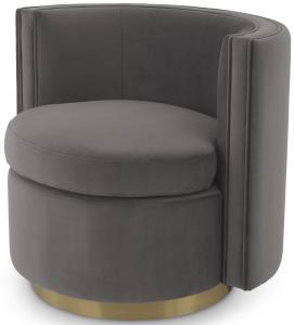 Вращающееся кресло Amanda 80X73X72 CM серого цвета