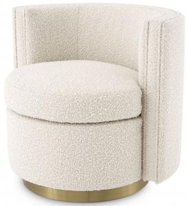 Вращающееся кресло Amanda 80X73X72 CM белого цвета