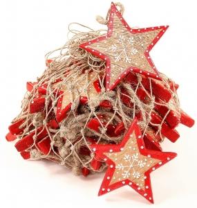 Украшения подвесные Christmas Stars 30 шт