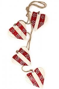 Новогоднее украшение из металла Christmas Hearts