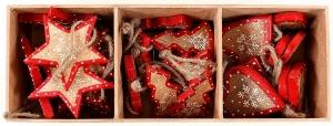 Украшения подвесные Stars / Trees / Hearts 10 CM 30 шт